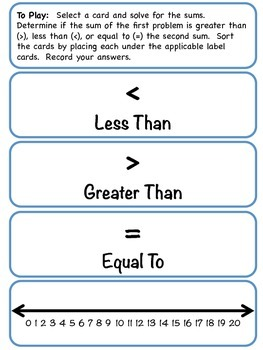 Sum It Up_Comparing Values_Greater Than Less Than Equal To