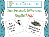 Sum, Product, Difference, Quotient War