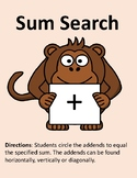 Sum Search: Number Search to Make 2-12