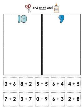 Sum Sorts {Early Math Sorting Series, Set #2}