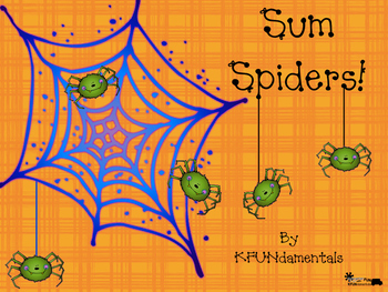 Sum Spiders! Compose Numbers 2-10, Halloween Addition For