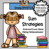 Sum Strategies:  NO PREP Grab and Cover Addition Strategies Game
