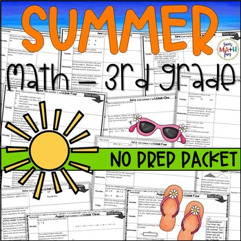 Summer Math Packet For Third Grade Review and Practice