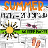 Summer Packet For Third Grade Math || No Prep Printables! || Distance Learning