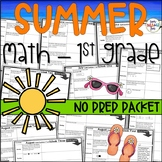 Summer Packet - Math Activities for First Graders Going Into Second