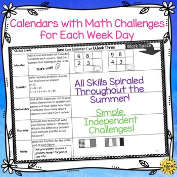Summer Math Homework Packet: Activities for Second Grade Review and Practice