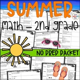 Summer Pack Second Grade Going Into Third | Math Activities || Distance Learning
