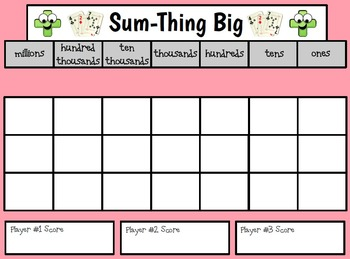 Sum-Thing Big - A Single OR Multi-Digit Addition Card Game