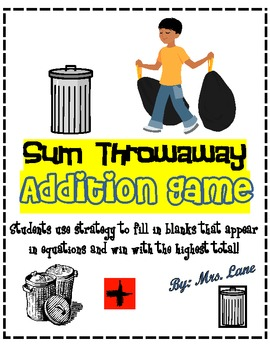 Sum Throwaway Addition Game! (Great Center or Workstation!)