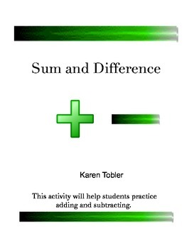 Sum and Difference Lab