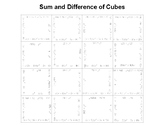 Sum and Difference of Cubes Fun Square Puzzle
