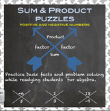 Sum and Product Puzzles  (positives and negatives)