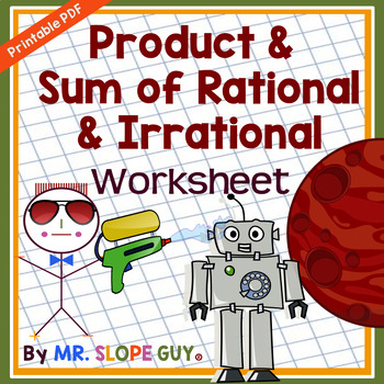 Sum and Product of Rational and Irrational Numbers Worksheet