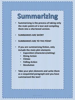 Sum it Up! Introduction to Summarizing