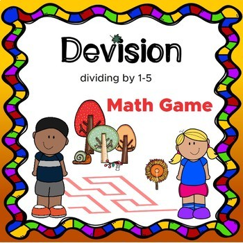 Math worksheets Division by 1-5 Math Facts Fluency & Fitness Brain Breaks