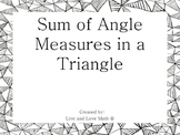 Sum of Angle Measures in a Triangle