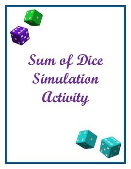 Sum of Dice Simulation/Probability Activity