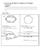 Sum of Interior Angles of Polygons (Discovery)