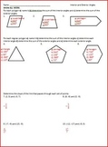 Interior and Exterior Angles of Polygons (WS)