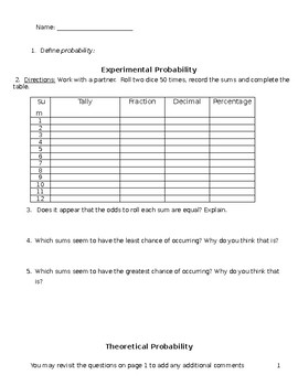 7th Grade Math Probability Worksheets Lots Of And Stations moreover  as well Theoretical Experimental Probability Worksheet Answers Unique Math moreover  besides Math 7  Theoretical and Experimental Probability   YouTube likewise Theoretical And Experimental Probability Worksheet The best additionally Probability worksheet 4 answers form   Fill Out and Sign Printable as well Theoretical and Experimental Probability  doc as well 4  c 6 free experimental probability worksheet 7 sp c 6  7th grade furthermore Probability With Dice Worksheet The Best Worksheets Image Collection likewise  further S le Spaces Worksheets Experimental Probability Worksheet Answer additionally  also paring experimental and theoretical probability by smoulder1992 as well Probability Worksheets   proworksheet further Theoretical and Experimental Probability  solutions  ex les. on theoretical and experimental probability worksheet