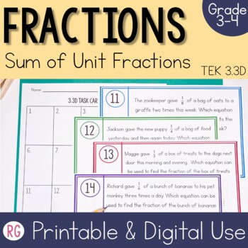 Sum of Unit Fractions - Composing and Decomposing Fractions Activities