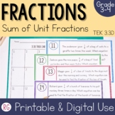 Sum of Unit Fractions - Composing and Decomposing Fraction