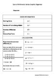 Sum of an Arithmetic Series Graphic Organizer