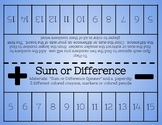 Sum or Difference!
