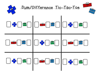 Sum/Difference Tic Tac Toe