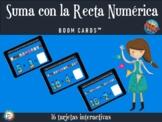 Suma con la recta numérica - Boom Cards