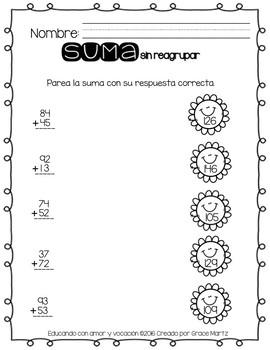 Suma sin reagrupar (SPANISH)