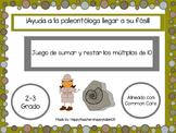 Juego de sumar y restar múltiplos de 10. ¡VERSIÓN DE DINOSAURIOS EN ESPAÑOL!