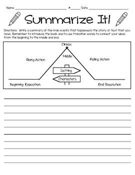 Sumarize It- Writing a Summary Form