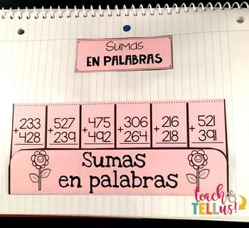Sumas - Addition Spanish