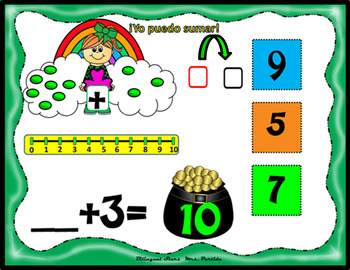 Sumas del 5-10 St. Patrick's Adding 5-10 March Google Drive PowerPoint iPad