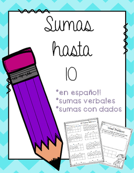 Sumas hasta 10 (Addition to 10 in Spanish)