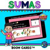 Sumas hasta el 10 Boom Cards™ SPANISH