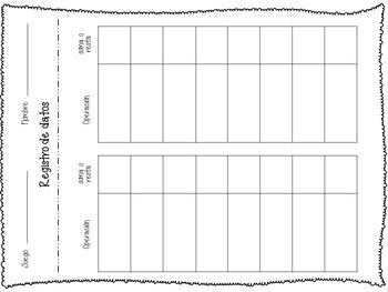 Sumas o restas - Spanish Classification Game & Worksheets - Model Drawing