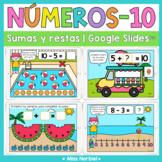 Sumas y restas a 10 para Google Slides™ | Addition and sub