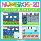 Sumas y restas a 20 para Google™ | Addition and Subtractio