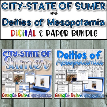 Sumer City State & Deities of Mesopotamia Bundle {Digital AND Paper}
