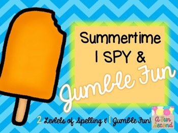 Sumer Fun - I Spy (or SCOOT) w/ Jumble (Unscramble) End of the Year Activity