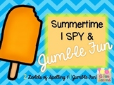 Sumer Fun - I Spy (or SCOOT) w/ Jumble (Unscramble) End of
