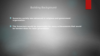 Sumerian Achievements PowerPoint