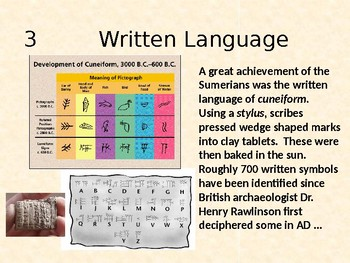 Sumerian Inventions and Contributions