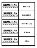 Sumerian Scramble - Ancient Middle East or Sumerian Vocabu
