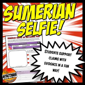 Sumerian Selfie Instagram Post Ancient Mesopotamia Leadership Activity