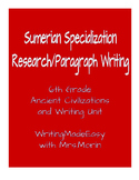 Sumerian Specialization Research and Paragraph Writing Project