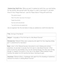 Summariazing Nonfiction Handout and Graphic Organizer
