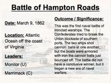Summaries of Major Civil War Battles